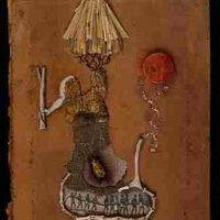 Jenny Abell, Book Cover No. 129, Mixed media, Overall: 11 3/4 x 9in. (29.8 x 22.9cm)