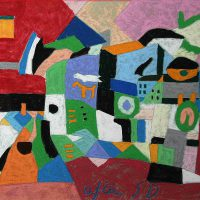 Robert Stark, After Stuart Davis, Overall: 26 1/4 x 31 3/4 x 1 3/8 in. (66.7 x 80.6 x 3.5 cm), Courtesy of the artist and Art in Embassies, Washington, D.C.
