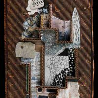 Jenny Abell, Book Cover No. 136, Mixed media, Overall: 12 x 9in. (30.5 x 22.9cm)