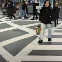 Kathleen  Migliore Newton, Crossing, Overall: 44 x 56 in. (111.8 x 142.2cm), Courtesy of the artist, Brooklyn, New York