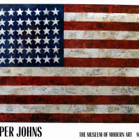 Jasper Johns, Flag, Overall: 31 x 39 x 1 1/2 in. (78.7 x 99.1 x 3.8 cm), Collection of Art in Embassies, Washington, D.C.