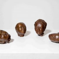 Kiki Smith, Heads, after Pietro Longhi, , Overall: 9 x 7 1/2 x 7 1/2in. (22.9 x 19.1 x 19.1cm), Courtesy of the artist and Lorcan O'Neil, Rome