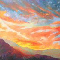 Jan Veitch, True Colorado Sunset, Overall: 16 x 16in. (40.6 x 40.6cm), Courtesy of the artist and Artwork Network, Denver, Colorado