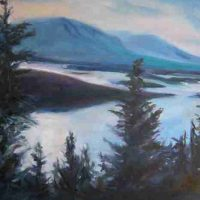 Jessica Wicken, Daylight Dissolving into Lake Dillon, Overall: 24 x 30in. (61 x 76.2cm), Courtesy of the artist and Artwork Network, Denver, Colorado