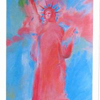 Peter Max, Statue of Liberty, Version 4, Graphic (signed), Overall: 32 x 19 1/2 x 1 1/4 in. (81.3 x 49.5 x 3.2 cm), Courtesy of Art in Embassies, Washington, D.C.; Gift of the artist