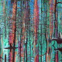 Mala Iqbal, Dreamcatcher, Acrylic on canvas, Overall: 36 x 48in. (91.4 x 121.9cm)
