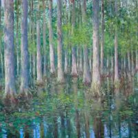 Thomas McNickle, CypressGrove, Magnolia-Plantation, Oil on canvas, Overall: 35 x 62in. (88.9 x 157.5cm), Courtesy of the artist, and Jerald Melberg Gallery, Charlotte, North Carolina