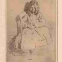 James Abbott McNeill Whistler, Annie, Seated, Etching: Ink on paper (2nd state), Overall: 18 x 14in. (45.7 x 35.6cm), framed, Courtesy of the Whistler House Museum of Art, Lowell, MA