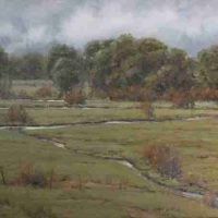 Dan Young, Mid Summer Rain, Overall: 24 × 30in. (61 × 76.2cm), Courtesy of the artist and Ann Korologos Gallery, Basalt, Colorado