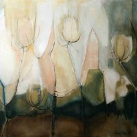 Millicent R. Tropf, Flowers of Glass, 29 3/4 x 35 1/2 in.  (75.6 x 90.2 cm), Collection of Art in Embassies, Washington, D.C.; Gift of Millicent R. Tropf