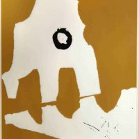 Robert Motherwell, Untitled, Screenprint with collage, Overall: 31 1/4 x 25 1/4 in. (79.4 x 64.1 cm), Collection of Art in Embassies, Washington, D.C.; Gift of Mr. and Mrs. Philip Berman