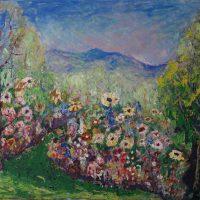James  N. Rosenberg, Adirondack Garden, Overall: 29 1/2 x 34 1/2 x 1 1/2 in. (74.9 x 87.6 x 3.8 cm), Collection of Art in Embassies, Washington, D.C.; Gift of John Walker