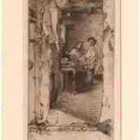 James Abbott McNeill Whistler, The Rag Gatherers, Etching: Ink on paper (5th or 6th state), Overall: 18 x 14in. (45.7 x 35.6cm), framed, Courtesy of the Whistler House Museum of Art, Lowell, MA