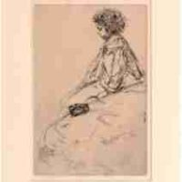 James Abbott McNeill Whistler, Bibi Lalouette, Etching Drypoint: Ink on paper (2nd state), Overall: 18 x 14in. (45.7 x 35.6cm), framed, Courtesy of the Whistler House Museum of Art, Lowell, MA