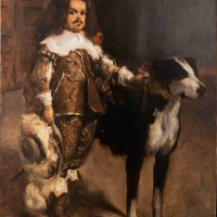 John Singer Sargent, Dwarf with a Mastiff, Copy after Velazquez, Oil on canvas, Overall: 55 7/8 x 42in. (141.9 x 106.7cm), On loan from The Hispanic Society of America, New York.