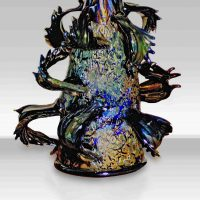 Dale Chihuly, Polychrome Ropes, Glass, Overall: 12 x 16 x 10 in. (30.5 x 40.6 x 25.4 cm), Collection of Art in Embassies, Washington, D.C.; Gift of Irvin J. Borowsky