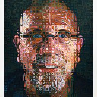 Chuck Close, Self-Portrait, Screenprint; edition 79/80, unframed: 66 1/2 x 55in. (168.9 x 139.7cm), Courtesy of the artist and Pace Prints, New York, New York