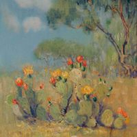 Dawson Dawson-Watson, Prickly Pear, Oil on canvas, Overall: 27 7/8 x 23 x 2 1/2in. (70.8 x 58.4 x 6.4cm), Courtesy of the Panhandle-Plains Historical Museum, Canyon, Texas; Purchase funded by Friends of Southwest Art