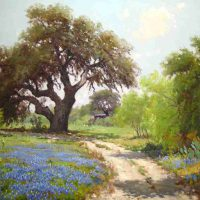 Porfirio Salinas, Bluebonnets (April in Texas), Oil on canvas, Overall: 37 1/8 x 47 x 2 3/8in. (94.3 x 119.4 x 6cm), Courtesy of the Witte Museum, San Antonio, Texas; Gift of Paul D. Crawford and Kathryn N. Crawford