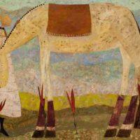 Ellen Skidmore, Roll, Overall: 39 x 45 in. (99.1 x 114.3 cm), Courtesy of the artist, Paris, Kentucky