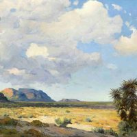 Robert William Wood, Untitled (West Texas Landscape), Oil on canvas, Overall: 36 5/8 x 46 3/4 x 4 3/8in. (93 x 118.7 x 11.1cm), Courtesy of the Witte Museum, San Antonio, Texas; Gift of Paul D. and Kathryn N. Crawford