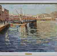Winston Churchill, Harbour scene, Cannes, Oil on canvas, Overall: 29 1/4 x 34 1/4 x 1 1/2in. (74.3 x 87 x 3.8cm), Courtesy of the Dallas Museum of Art, Texas, Gift of of Dr. William Osborne in honor of Cheryl and Kevin Vogel