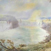 John William Hill, View of Niagara Falls, Watercolor, Overall: 23 3/4 x 32 x 1 1/2 in. (60.3 x 81.3 x 3.8 cm), Collection of Art in Embassies, Washington, D.C.; Gift of Joseph P. Carroll to the Foundation of Art and Preservation in Embassies, Washington, D.C.