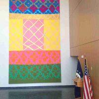 Judy Ledgerwood, Untitled, , Each panel measuring: 7.5 feet x 12 feet