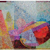 Sam Gilliam, Museum Moment, 90-color screenprint, Overall: 32 x 40 in. (81.3 x 101.6cm), Collection of Art in Embassies, Washington, D.C.; Courtesy of the artist and the Smithsonian Associates, Washington, D.C.