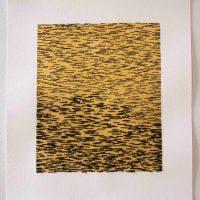 Emily Barletta, Untitled 119, Thread, paint, paper, Overall: 21 x 17 x 1in. (53.3 x 43.2 x 2.5cm) Work: 13 3/4 x 12 1/4in. (34.9 x 31.1cm), Courtesy of the artist