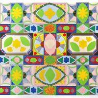Joyce Kozloff, Untitled, SIlkscreen, Overall: 48 x 34 3/4 x 2 in. (121.9 x 88.3 x 5.1 cm), Collection of Art in Embassies, Washington, D.C.; Gift of Lincoln Center / Vera List Art Program