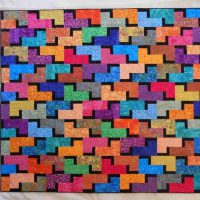Debbie Bowles, Stackables 2, Fabric, Overall: 89 x 97 1/4in. (226.1 x 247cm), Courtesy of Debbie Bowles, Burnsville, Minnesota