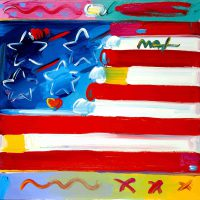 Peter Max, American Flag, Acrylic on canvas, Overall: 24 x 30in. (61 x 76.2cm), Courtesy of the artist, New York, New York