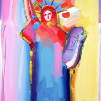 Peter Max, Statue of Liberty, Acrylic silkscreeen on canvas, Overall: 48 x 24in. (121.9 x 61cm), Courtesy of the artist, New York, New York