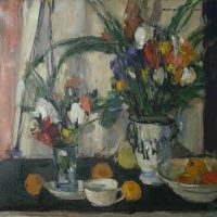 Charles  F. Quest, Still Life with Flowers, 30 x 34 x 1 in.  (76.2 x 86.4 x 2.5 cm), Collection of Art in Embassies, Washington, D.C.; Gift of Professor Charles F. Quest