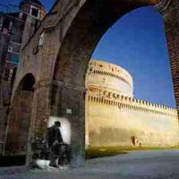 Shimon Attie, Under Castle of Saint Angelo, Lambda photograph, Overall: 59 x 50in. (149.9 x 127cm), Courtesy of the artist and Jack Shainman Gallery, New York, New York