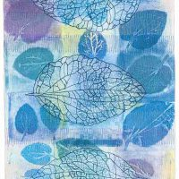 Catherine Kleeman, Three Leaves, Overall: 40 1/4 x 22 in. (102.2 x 55.9cm), Courtesy of the artist, Ruxton, Maryland