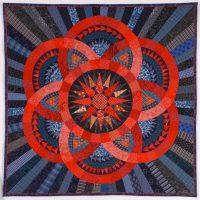 Judy Mathieson, Vermillion Circles, Overall: 45 x 45 in. (114.3 x 114.3cm), Courtesy of the artist, Sebastopol, California