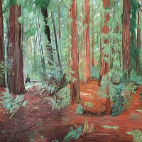 Harry Pattison, Redwood Forest, Overall: 47 3/8 x 85 1/4 x 1 3/4 in. (120.3 x 216.5 x 4.4 cm), Collection of Art in Embassies, Washington, D.C.; Gift of Abbott Pattison