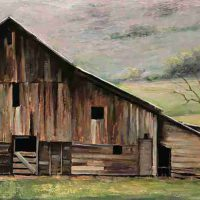 Simon Winegar, Barn #4, Richmond, UT, Overall: 12 × 24in. (30.5 × 61cm), Courtesy of the artist and Ann Korologos Gallery, Basalt, Colorado