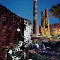 Shimon Attie, At Largo Argentina, Lambda print, Overall: 59 x 50in. (149.9 x 127cm), Courtesy of the artist and Jack Shainman Gallery, New York, New York