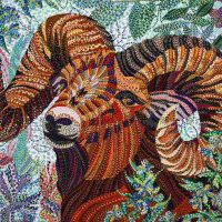 Erika Pochybova-Johnson, Aries, Overall: 24 × 30in. (61 × 76.2cm), Courtesy of the artist, Lubbock, Texas