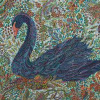 Erika Pochybova-Johnson, Black Swan, Overall: 18 × 24in. (45.7 × 61cm), Courtesy of the artist, Lubbock, Texas