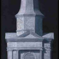 Edward Rice, Spire (Grisaille), Overall: 48 x 30in. (121.9 x 76.2cm), Courtesy of the artist, North Augusta, South Carolina