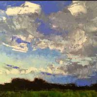 Mary Bentz Gilkerson, Summer, Evening Sky, oil on panel, Overall: 9 x 12in. (22.9 x 30.5cm), Courtesy of the artist, Columbia, South Carolina
