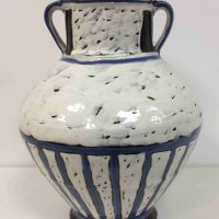 Jay Owens, Amphora, earthenware clay, slips, glazes, Overall: 12 1/2 x 10 x 10in. (31.8 x 25.4 x 25.4cm), Courtesy of the artist, Travelers Rest, South Carolina