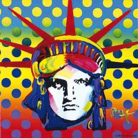 Peter Max, Liberty Head, Acrylic on canvas, 24 x 24 in.  (61.0 x 61.0 cm), Courtesy of the artist, New York City