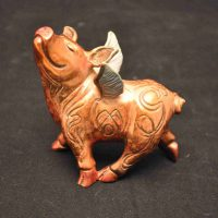 John Maisano, Dream Pig, Overall: 4 × 5in. (10.2 × 12.7cm), Courtesy of the artist, Austin, Texas