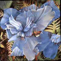 Valerie Watson, Tattered Iris, Framed:  46 x 46 in.  (116.8 x 116.8 cm); image:  30 x 30 in.  (76.2 x 76.2 cm), Courtesy of the artist, Cheverly, Maryland