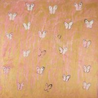 Hunt Slonem, Ascension in Pink, Overall: 88 x 88in. (223.5 x 223.5cm), Courtesy of the artist, New York, New York